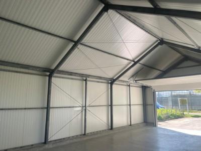 Kassenbouw project A kap schuur HT Greenhouses.
